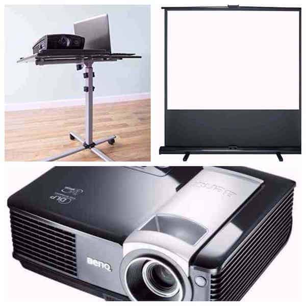 projector screen combo hire